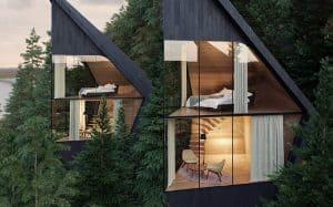 واجهات مبني من الخشب